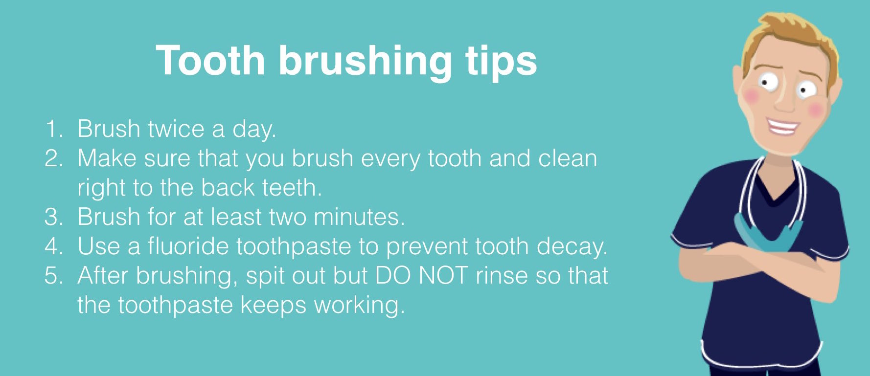 The Online Dentist tips on tooth brushing